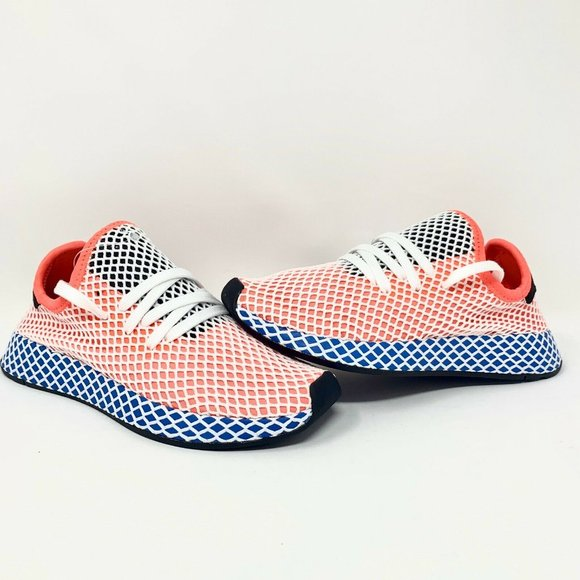 ADIDAS ORIGINALS DEERUPT RUNNER New Men/'s Solar Red Blue White Shoes Sneakers